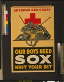 Our Boys Need Sox - Knit Your Bit. American Red Cross.