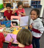 Students Enjoy Kindness Station
