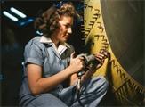 Female riveter during World War II